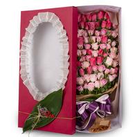 핑크장미혼합 백송이상자