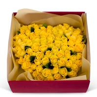 노란장미꽃상자