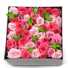 핑크장미혼합 상자
